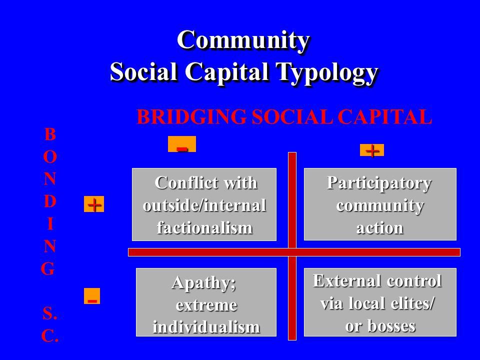 BRIDGING SOCIAL CAPITAL B O N D I N G S. C.