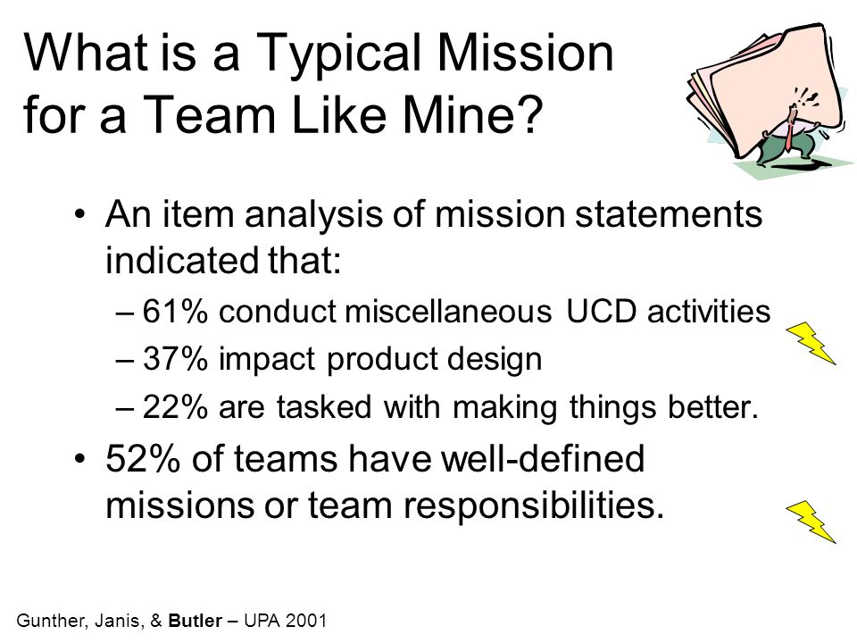 What is a Typical Mission for a Team Like Mine.