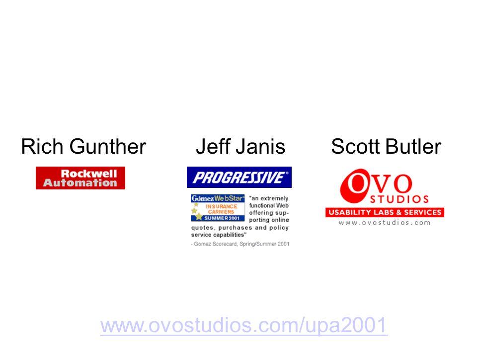 Rich GuntherJeff JanisScott Butler www.ovostudios.com/upa2001