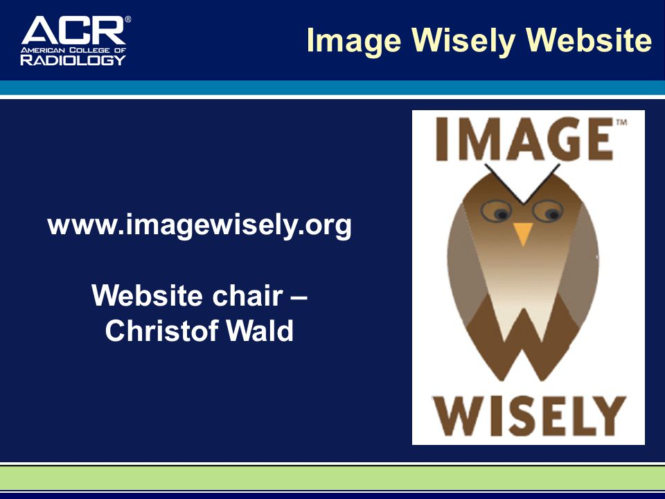 Image Wisely Website www.imagewisely.org Website chair – Christof Wald
