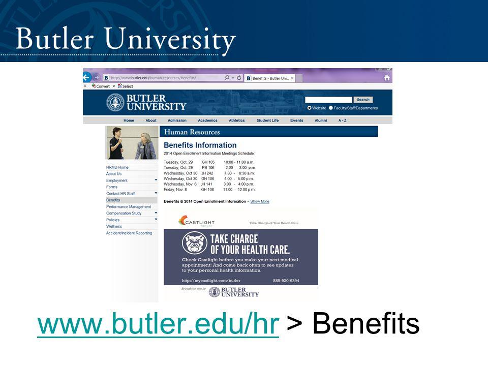 www.butler.edu/hrwww.butler.edu/hr > Benefits