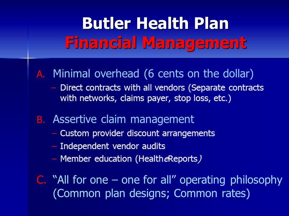 Butler Health Plan Financial Management A. A.