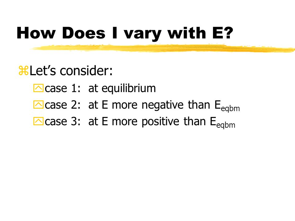 How Does I vary with E.