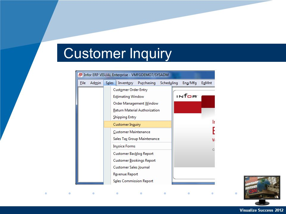 Visualize Success 2012 Customer Inquiry