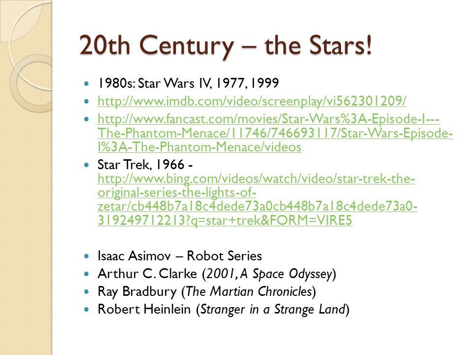 20th Century – the Stars.