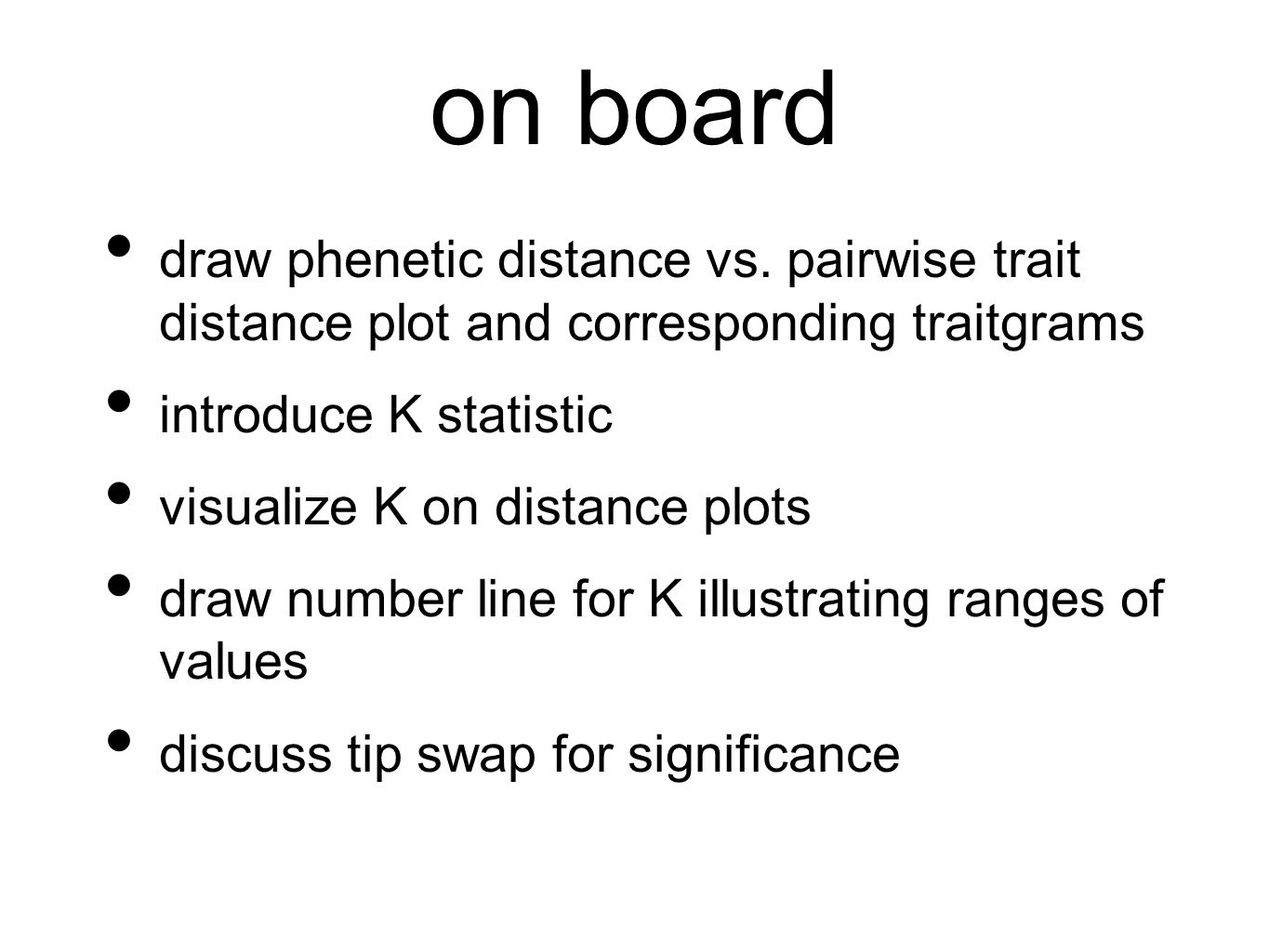 on board draw phenetic distance vs.