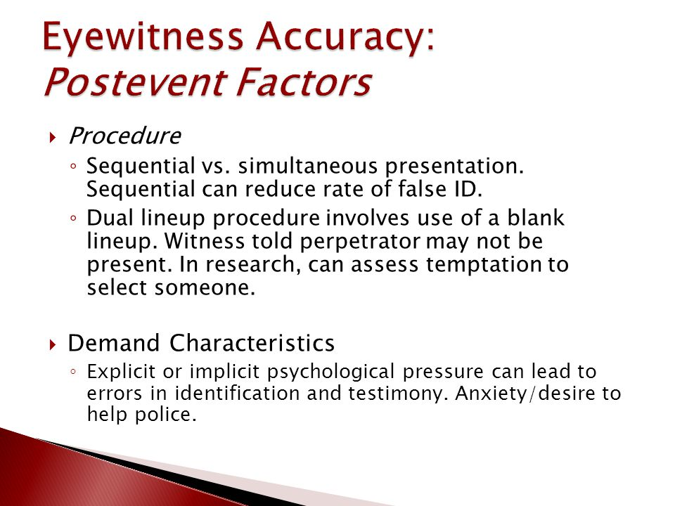 Procedure ◦ Sequential vs. simultaneous presentation.