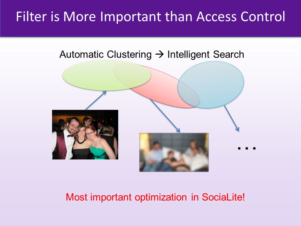 Filter is More Important than Access Control … Most important optimization in SociaLite.