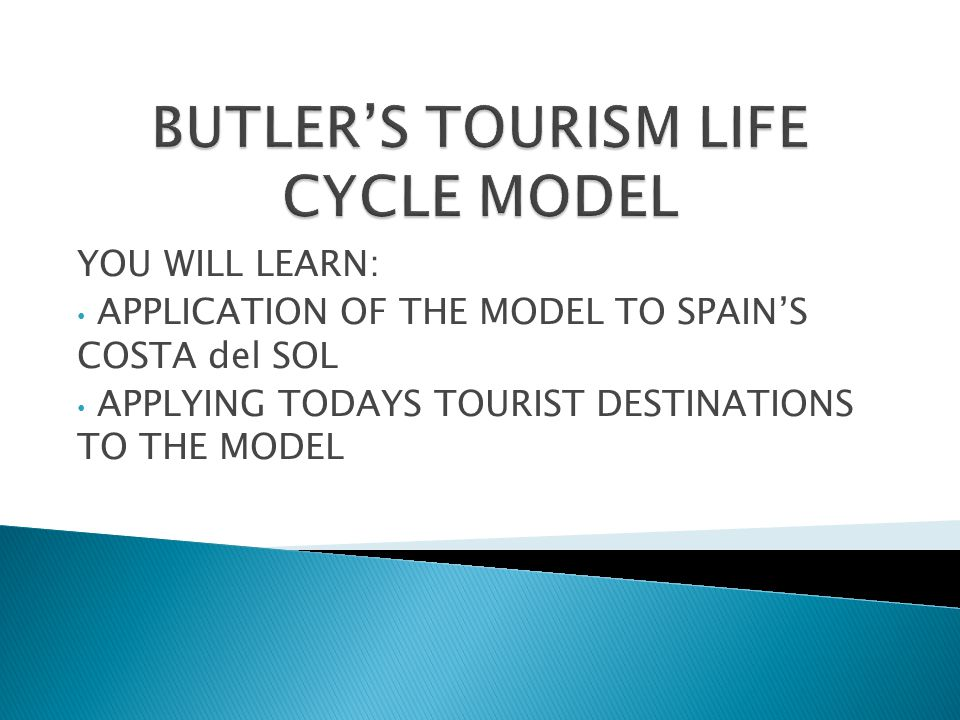 YOU WILL LEARN: APPLICATION OF THE MODEL TO SPAIN'S COSTA del SOL APPLYING TODAYS TOURIST DESTINATIONS TO THE MODEL