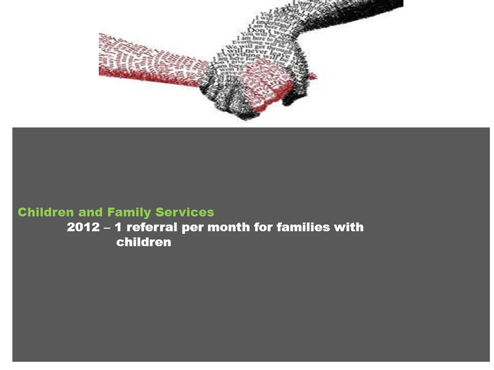 Children and Family Services 2012 – 1 referral per month for families with children