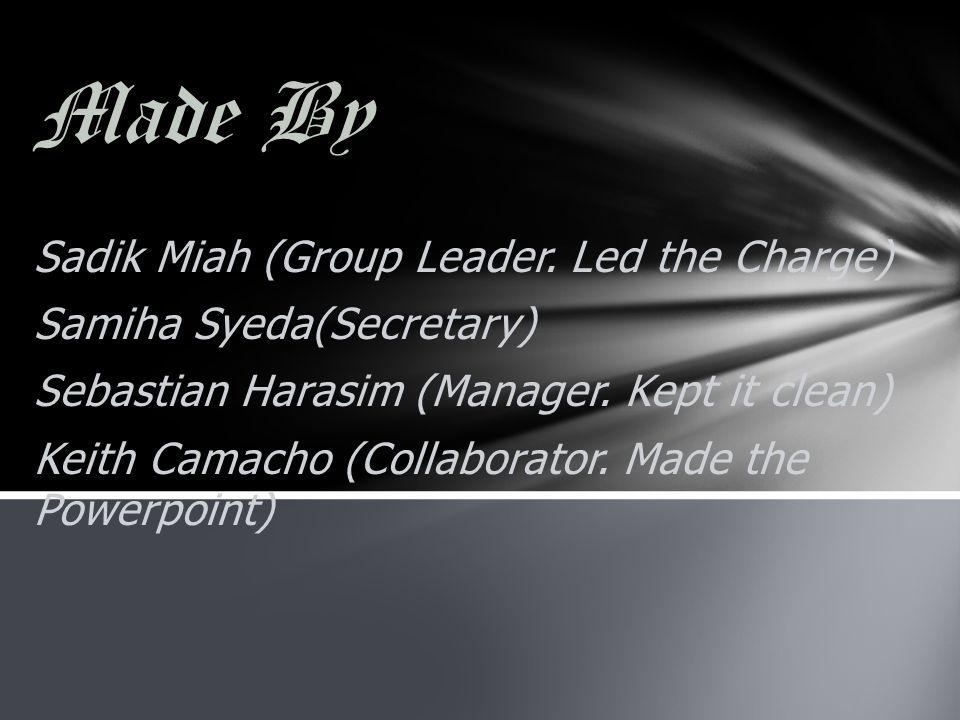 Made By Sadik Miah (Group Leader.