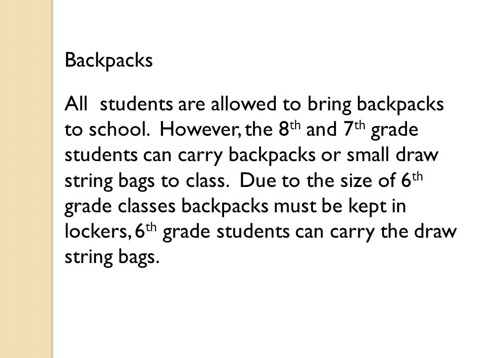 Dress Code Students are to follow the dress code policy as stated in the student and district handbook.