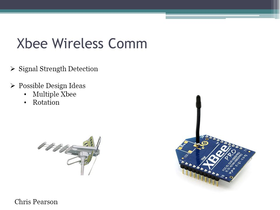 Xbee Wireless Comm  Signal Strength Detection  Possible Design Ideas Multiple Xbee Rotation Chris Pearson