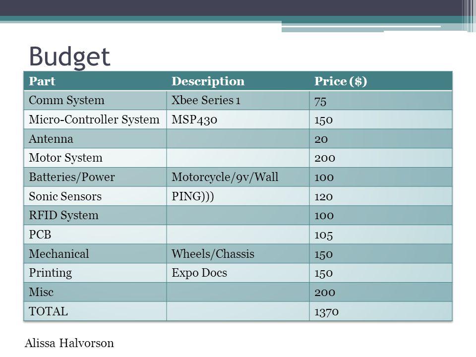 Budget Alissa Halvorson