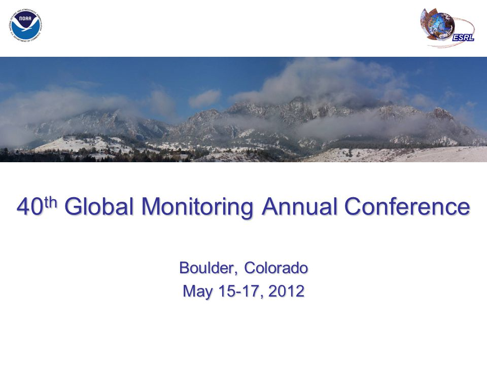 May 21-22, 2013 ESRL GMAC – 2013 GMD Overview JH Butler 40 th Global Monitoring Annual Conference Boulder, Colorado May 15-17, 2012