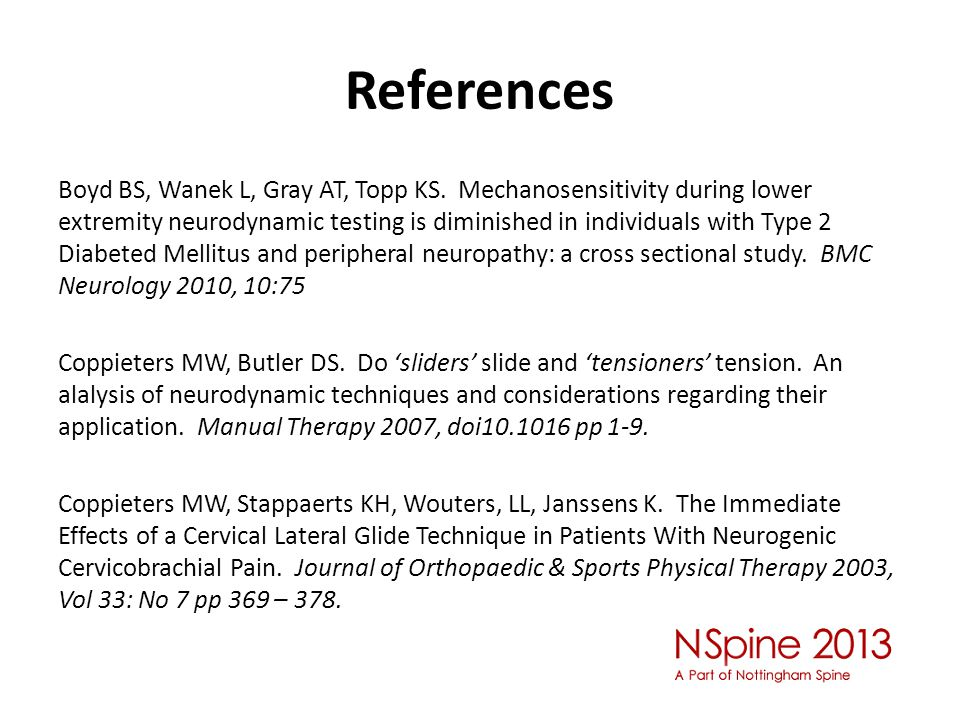 References Boyd BS, Wanek L, Gray AT, Topp KS.