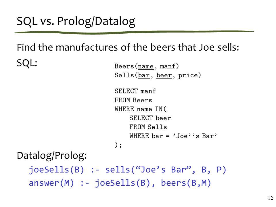 SQL vs.
