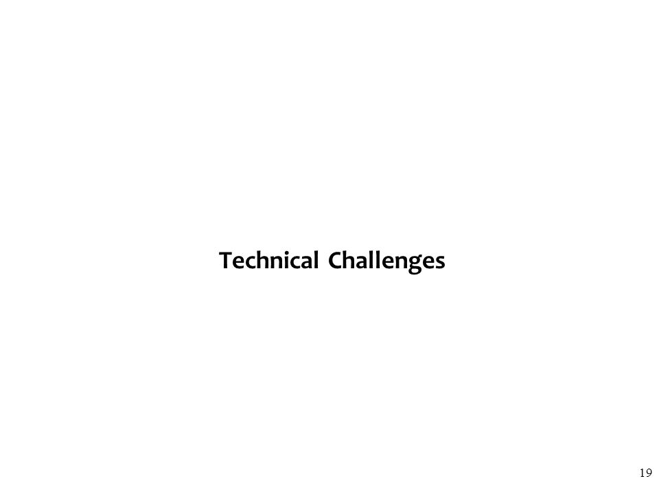 Technical Challenges 19