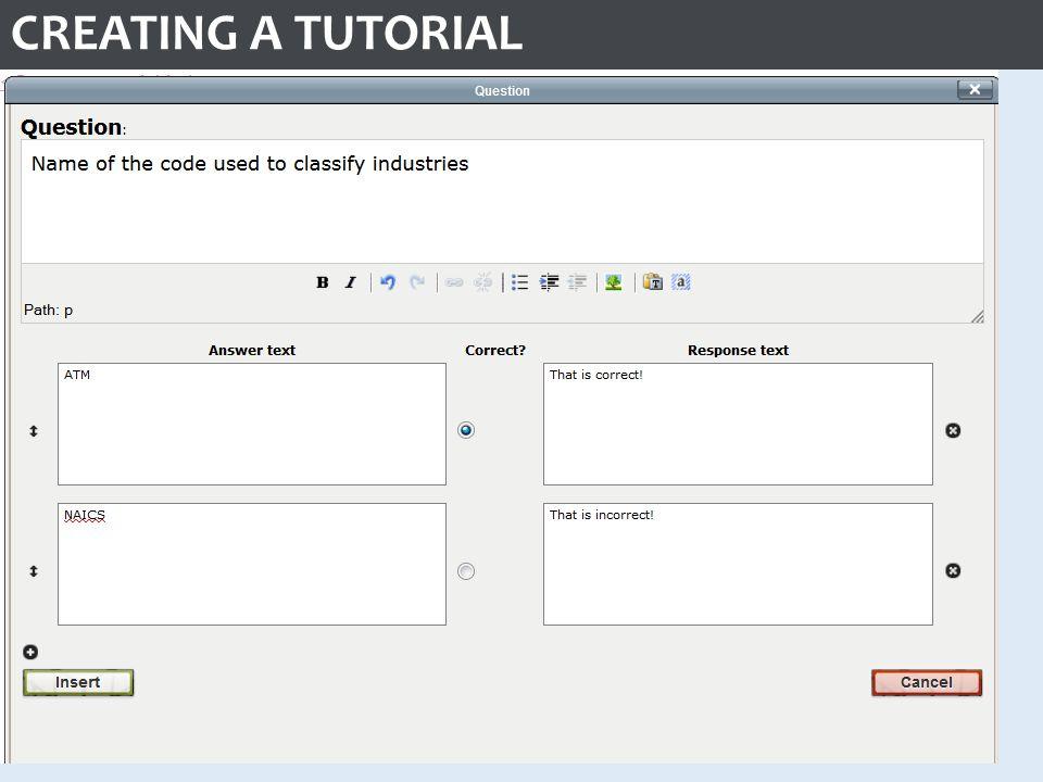CREATING A TUTORIAL WYSIWYG editor