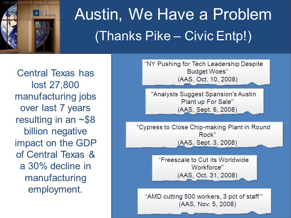 Austin, We Have a Problem (Thanks Pike – Civic Entp!) Analysts Suggest Spansion s Austin Plant up For Sale (AAS, Sept.