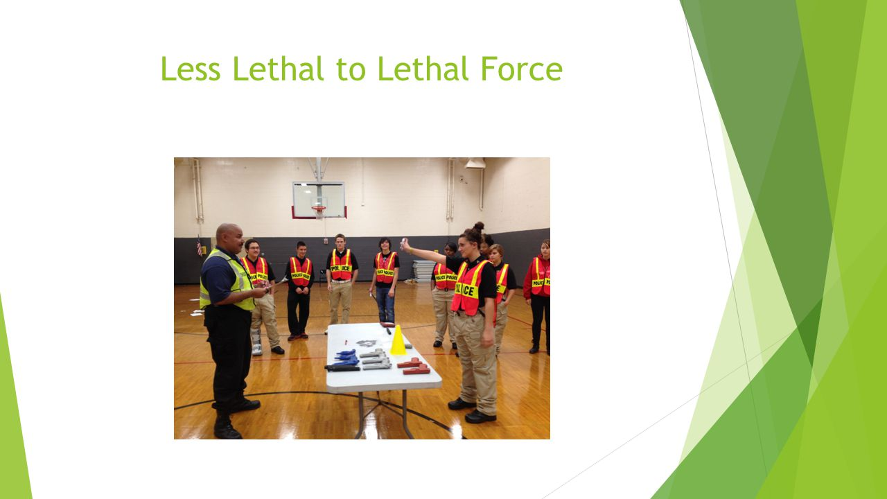 Less Lethal to Lethal Force