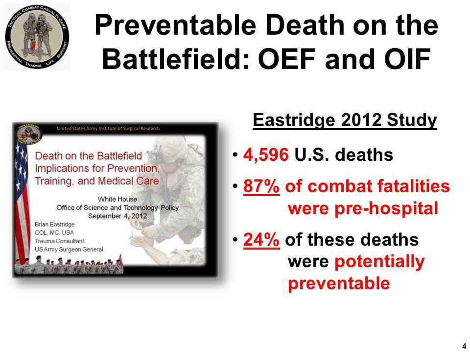 Improving TACEVAC Care Defense Health Board Memo 8 August 2011 Develop a U.S.