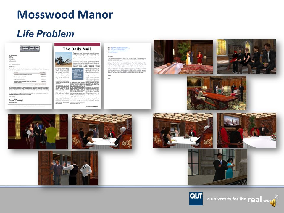 a university for the world real R Mosswood Manor Negotiation refresher Background narrative