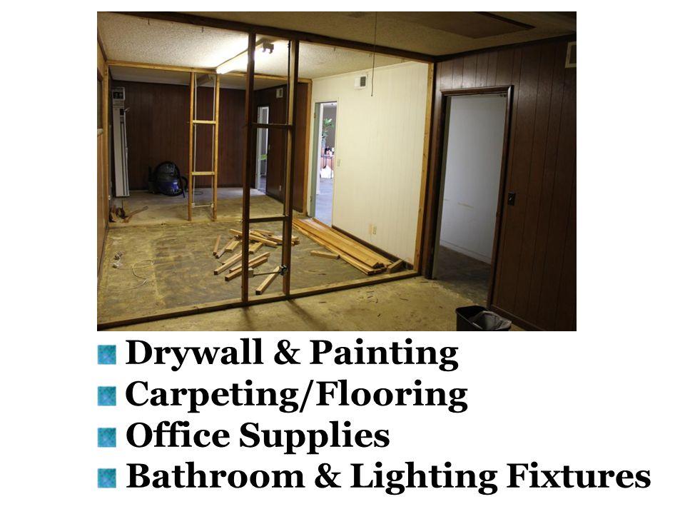 Drywall & Painting Carpeting/Flooring Office Supplies Bathroom & Lighting Fixtures