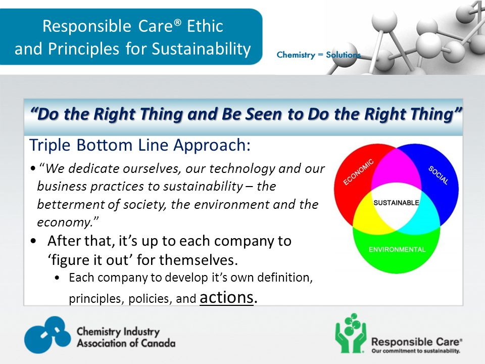 """Triple Bottom Line Approach: """"We dedicate ourselves, our technology and our business practices to sustainability – the betterment of society, the envi"""