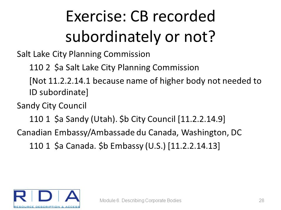 Exercise: CB recorded subordinately or not.