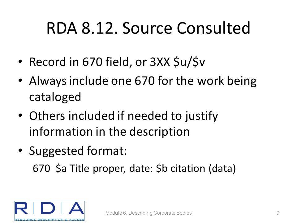 Module 6. Describing Corporate Bodies40
