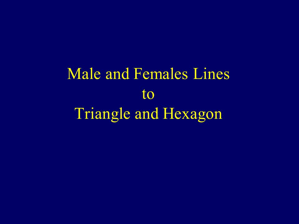 Male and Females Lines to Triangle and Hexagon