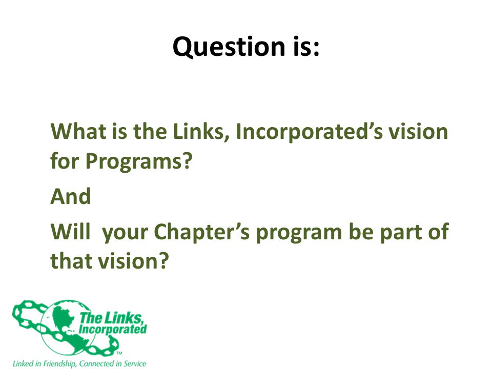Answer is: All Chapters will have transformational programming by 2014.