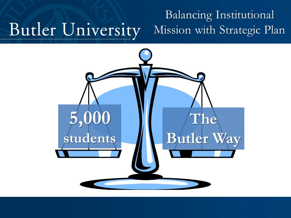 5,000students The Butler Way Balancing Institutional Mission with Strategic Plan