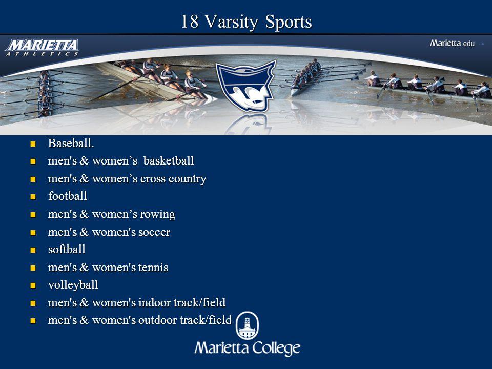 18 Varsity Sports Baseball. Baseball.