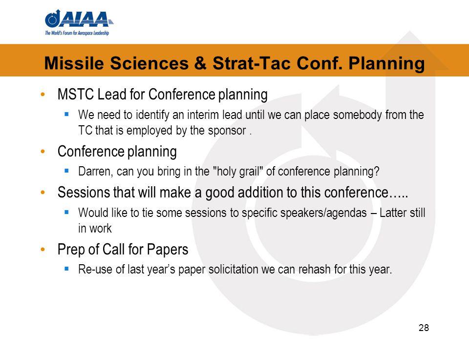 Missile Sciences & Strat-Tac Conf.