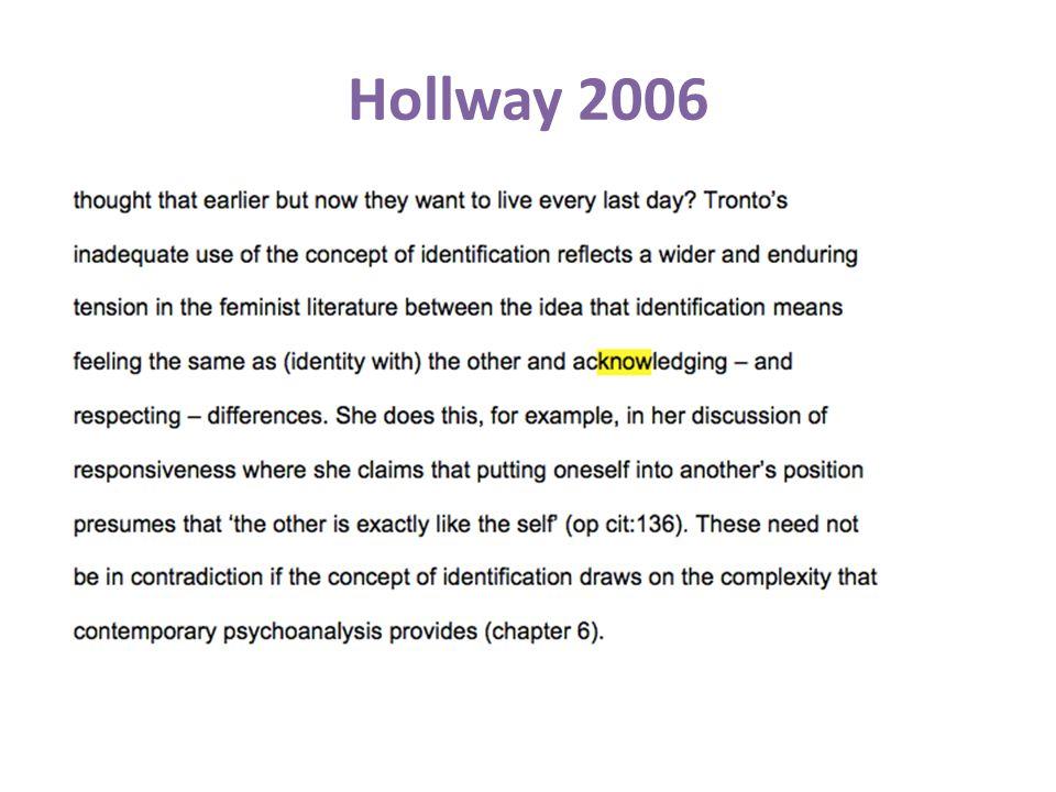 Hollway 2006
