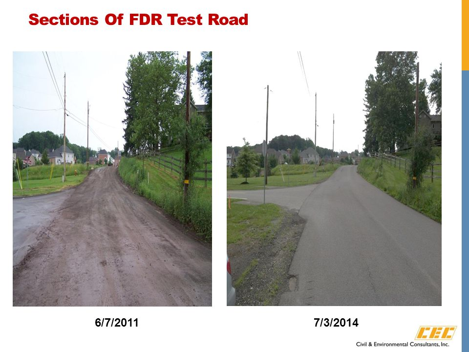 Sections Of FDR Test Road 6/7/20117/3/2014
