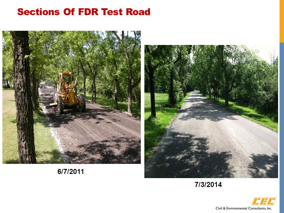 Sections Of FDR Test Road 6/7/2011 7/3/2014