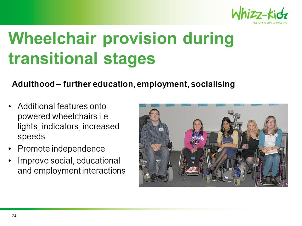Additional features onto powered wheelchairs i.e.