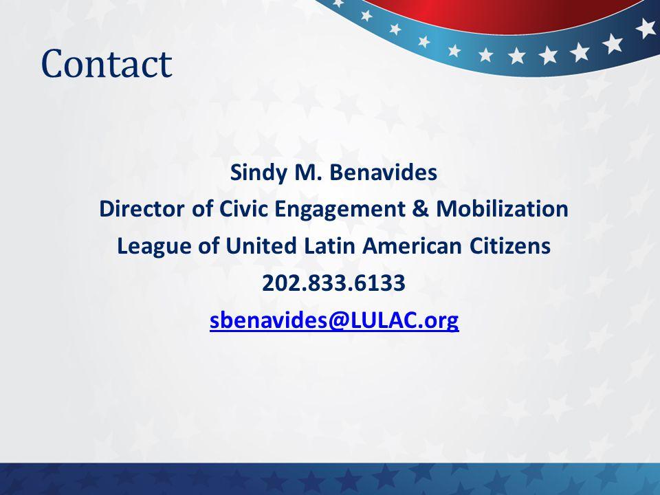 Contact Sindy M.