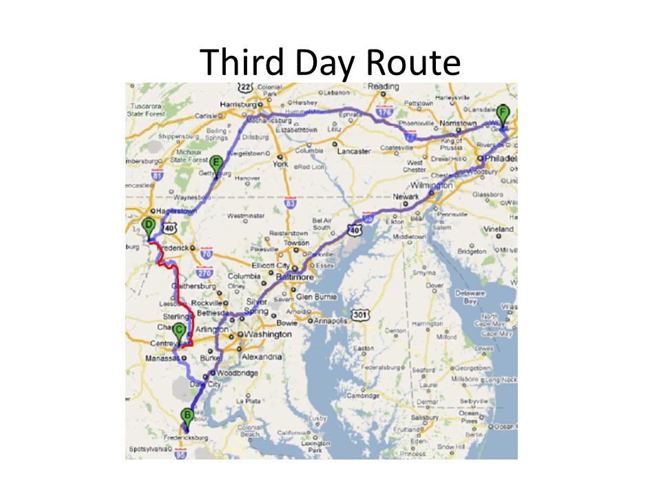 Third Day Route