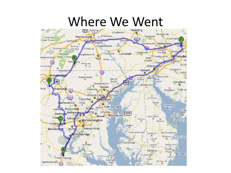 Where We Went