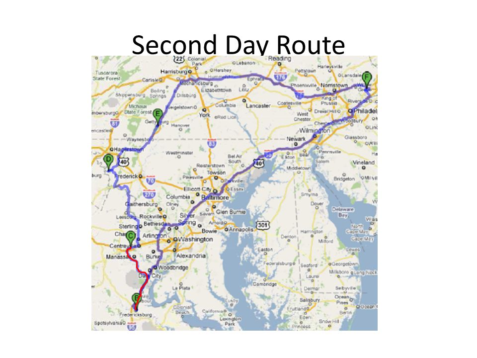 Second Day Route