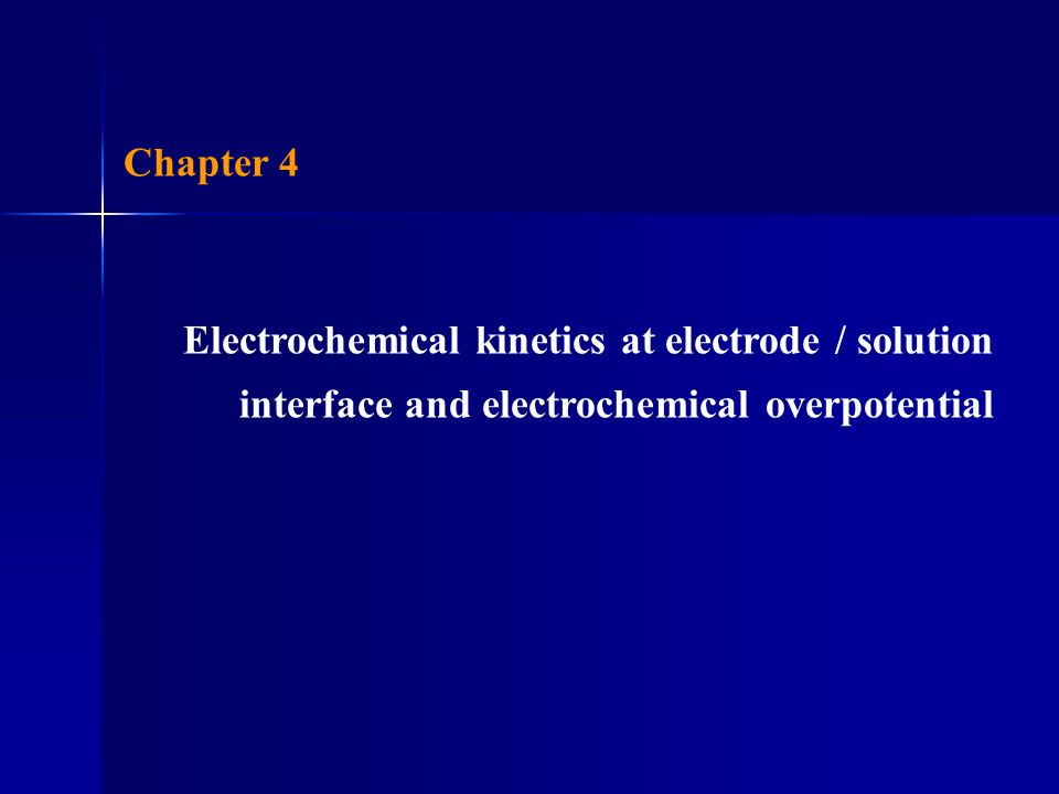 Effect of potential on electrode reaction 1.Thermodynamic aspect If electrode reaction is fast and electrochemical equilibrium remains, i.e., Nernst equation is applicable.