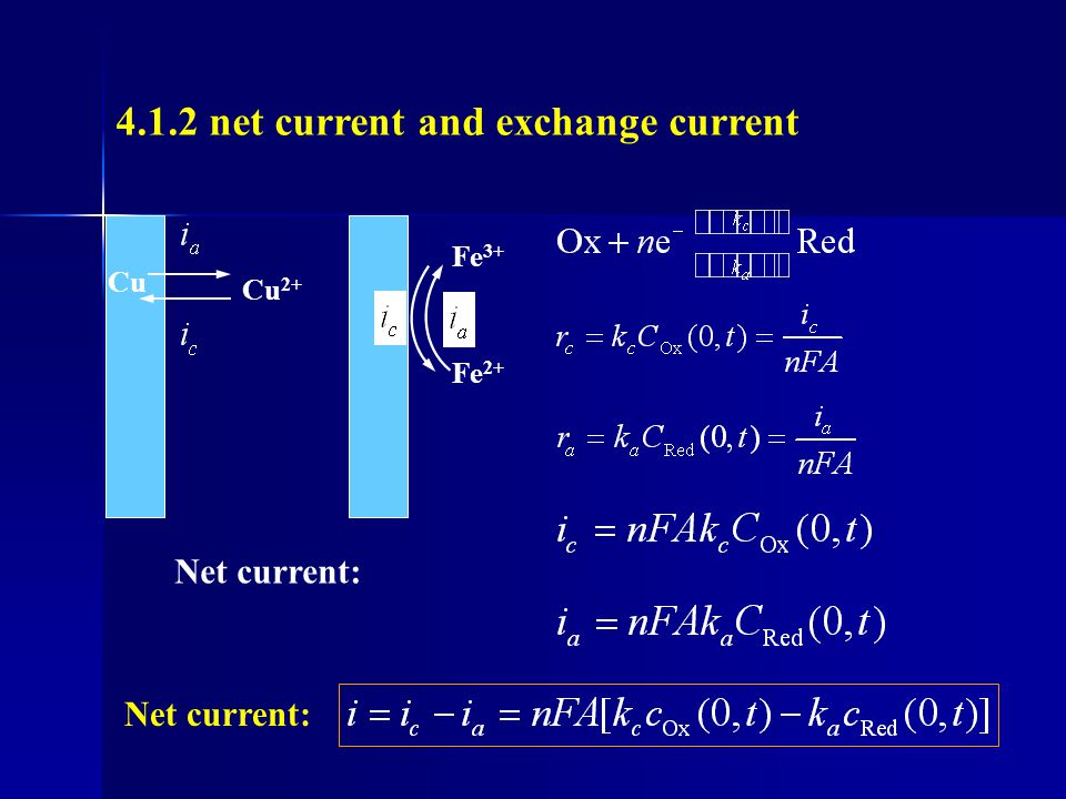 Influence of impurity If an impurity undergoes reduction at electrode If The influence of impurity on equilibrium is negligible.