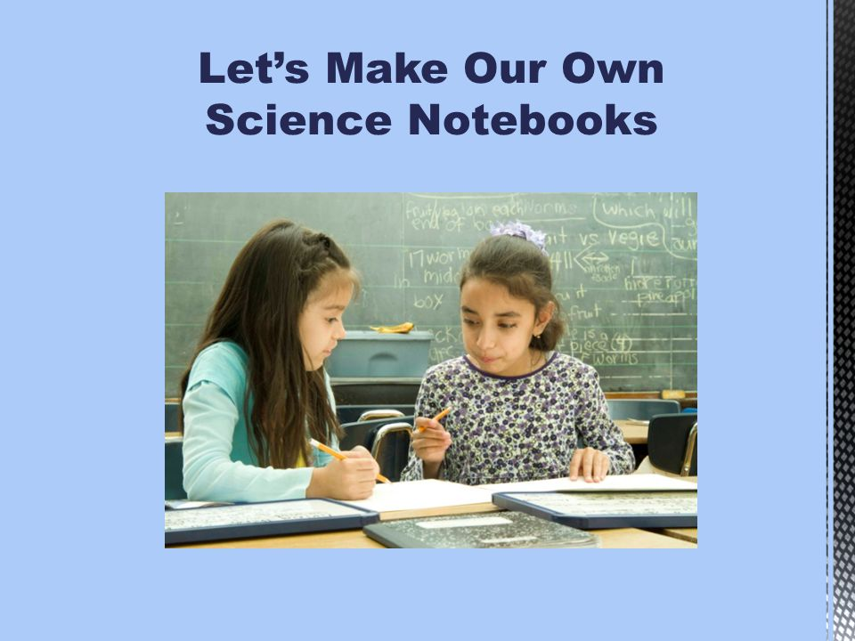 Let's Make Our Own Science Notebooks