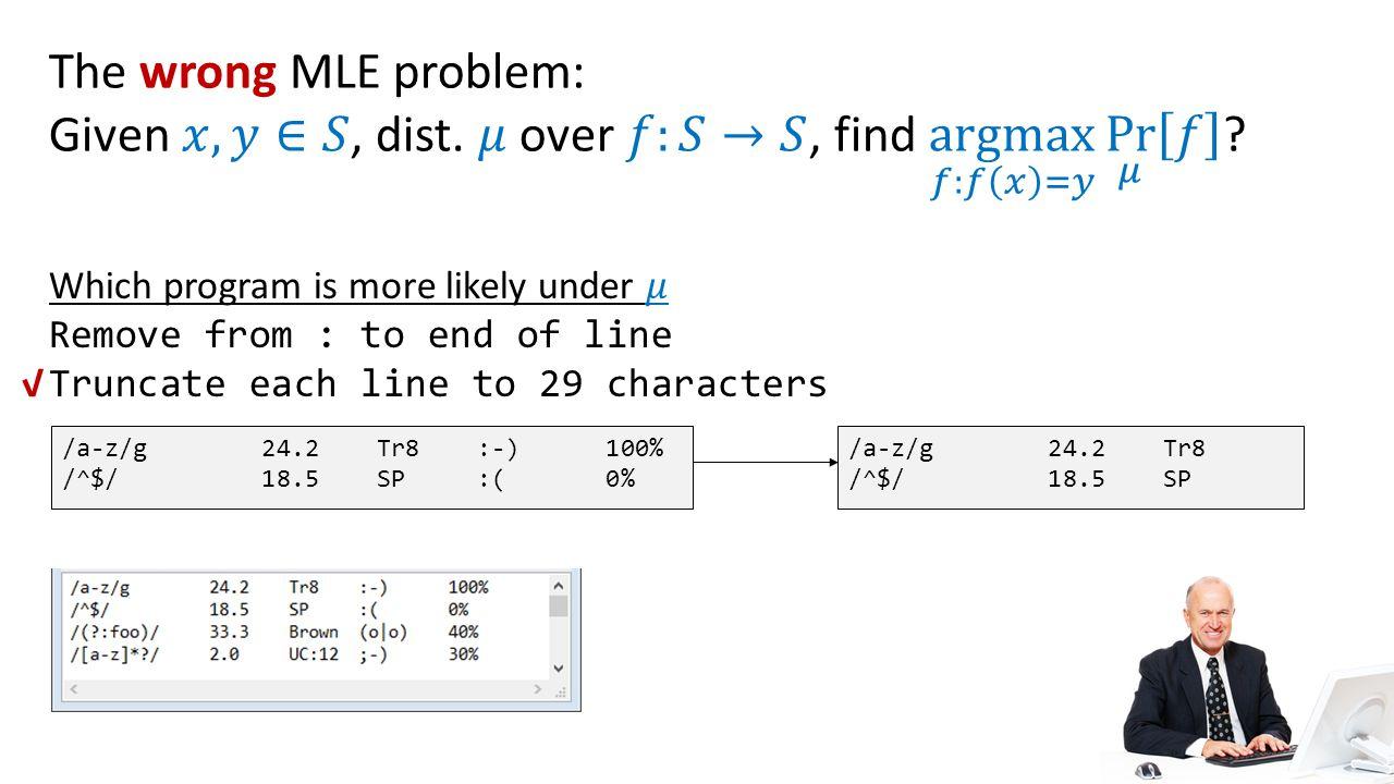 /a-z/g 24.2 Tr8 :-) 100% /^$/ 18.5 SP :( 0% /a-z/g 24.2 Tr8 /^$/ 18.5 SP √