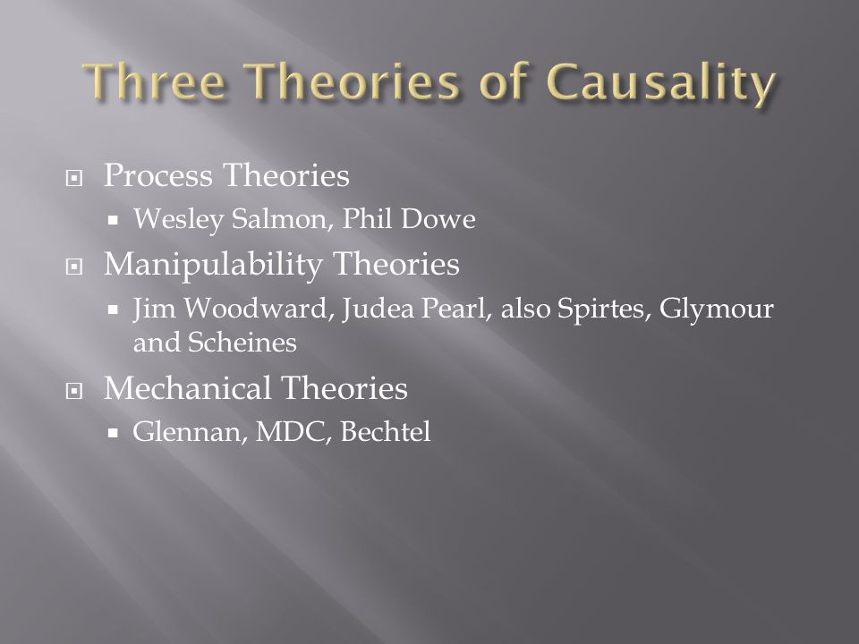  Causal processes are understood as world-lines of objects that propagate causal influence through space-time.