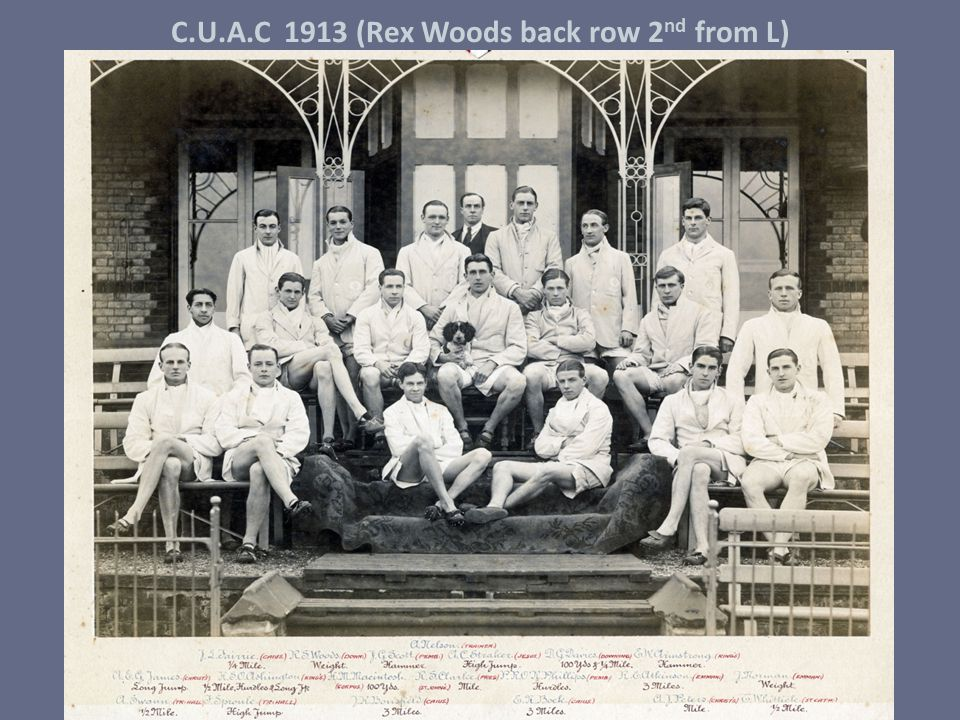 C.U.A.C 1913 (Rex Woods back row 2 nd from L)